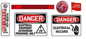 Electric digging signs